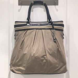 Cole Haan Nylon Tote with Leather Details